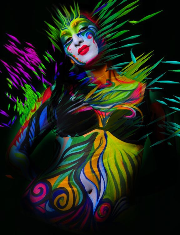Bodypainting by Bill Millward